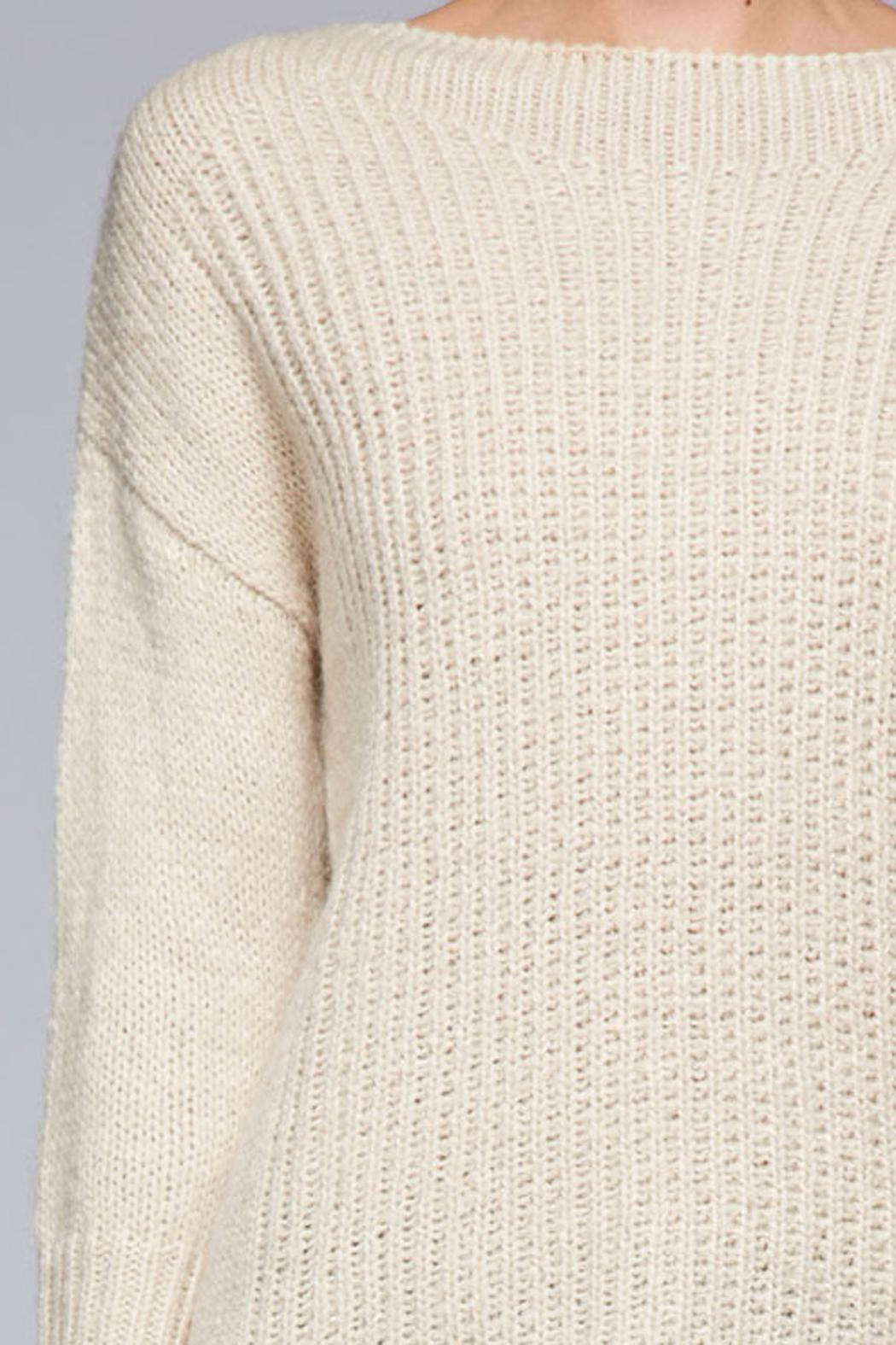 SNAZZY CHIC BOUTIQUE Beige Oversized Sweater - Side Cropped Image