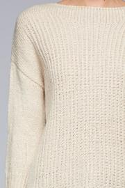 SNAZZY CHIC BOUTIQUE Beige Oversized Sweater - Side cropped