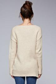 SNAZZY CHIC BOUTIQUE Beige Oversized Sweater - Back cropped