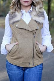 SNAZZY CHIC BOUTIQUE Camel Wool Vest - Product Mini Image