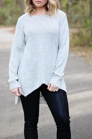SNAZZY CHIC BOUTIQUE Chic Grey Sweater - Front cropped