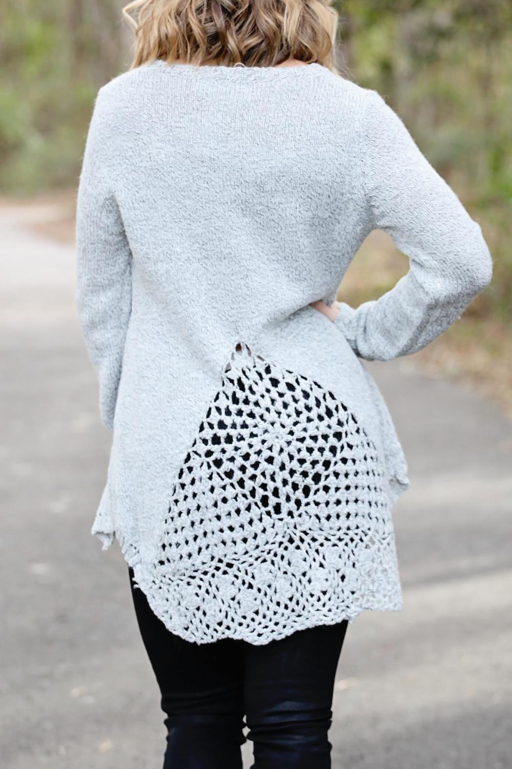 SNAZZY CHIC BOUTIQUE Chic Grey Sweater - Front Full Image