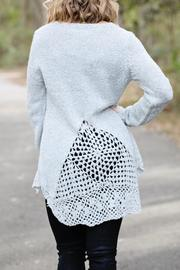 SNAZZY CHIC BOUTIQUE Chic Grey Sweater - Front full body