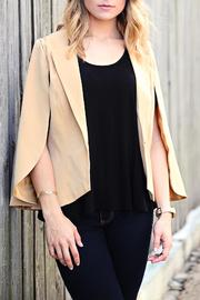 SNAZZY CHIC BOUTIQUE Demure Cape Blazer - Front cropped