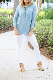 SNAZZY CHIC BOUTIQUE Denim Pullover Top - Product Mini Image