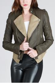 SNAZZY CHIC BOUTIQUE Edgy Leather Jacket - Product Mini Image