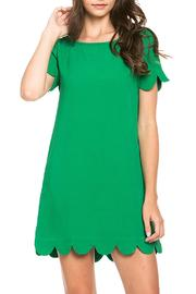 SNAZZY CHIC BOUTIQUE Green Scalloped Dress - Product Mini Image
