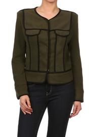 SNAZZY CHIC BOUTIQUE Hip Military Jacket - Product Mini Image