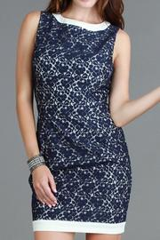 SNAZZY CHIC BOUTIQUE Navy Lace Dress - Product Mini Image