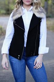 SNAZZY CHIC BOUTIQUE Wool Fur Vest - Product Mini Image