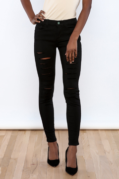 Shoptiques Product: Black Slit Jeans