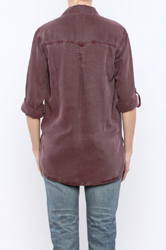 Shoptiques Product: Burgundy Button Down