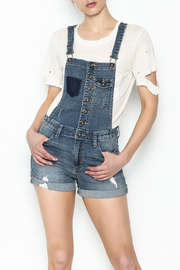 Sneak Peak Button Up Overalls - Front cropped