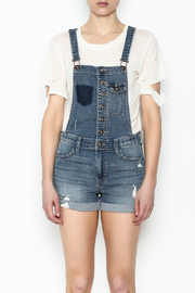 Sneak Peak Button Up Overalls - Front full body