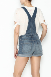 Sneak Peak Button Up Overalls - Back cropped