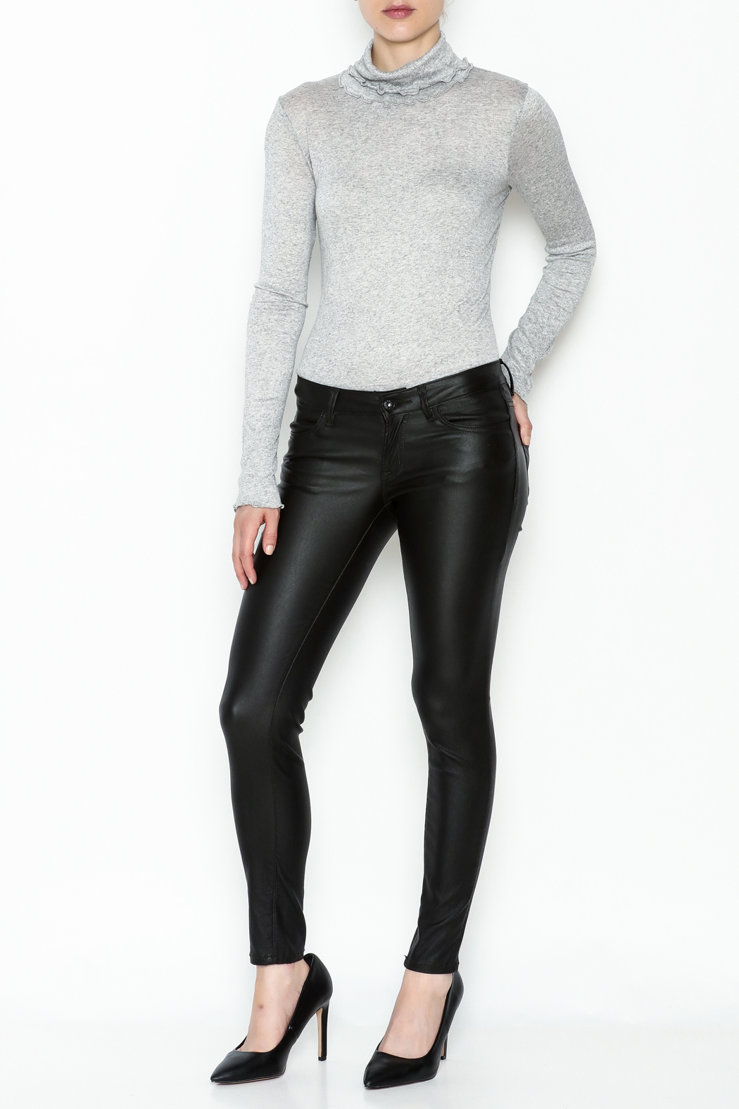 Sneak Peak Coated Skinny Denim Jeans - Side Cropped Image