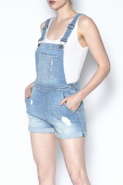 Sneak Peak Denim Overall Shorts - Product Mini Image