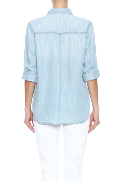 Shoptiques Product: Denim Polka Dot Shirt