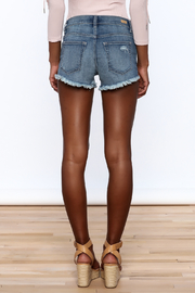 Sneak Peak Denim Mini Shorts - Back cropped