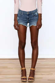Sneak Peak Denim Mini Shorts - Side cropped