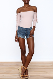 Sneak Peak Denim Mini Shorts - Front full body