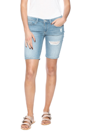 Sneak Peak Distressed Bermuda Shorts - Product Mini Image