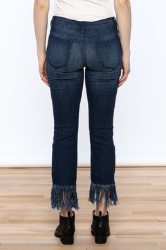 Sneak Peak Fringed Denim Jeans - Alternate List Image