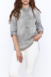 Sneak Peak Faded Button Up Shirt - Front cropped