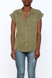 Sneak Peak Military Button Down Shirt - Side cropped