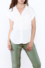 Sneak Peak Military Button Down Shirt - Front cropped