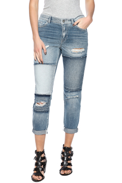 Sneak Peak Patchwork Boyfriend Jeans - Product List Image
