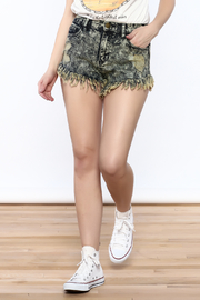 Sneak Peek Acid-Wash Denim Shorts - Product Mini Image