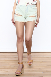 Sneak Peek Distressed Denim Shorts - Product Mini Image