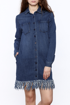 Shoptiques Product: Denim Fringe Shirt-Dress