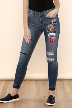 Sneak Peek Patched Skinny Jeans - Product List Image