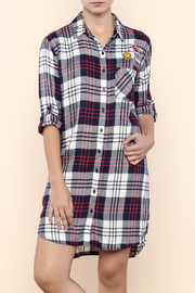 Sneak Peek Plaid Patch Shirt Dress - Product Mini Image