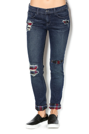 Sneak Peek Ripped Plaid Jeans - Product Mini Image