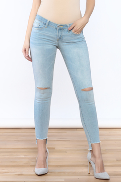 Shoptiques Product: Knee Slit Skinny Jean