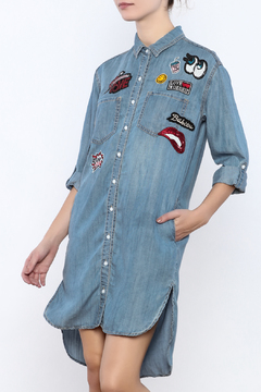 Shoptiques Product: Patches Tencel Shirt Dress