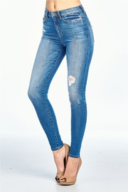 Sneak Peak High Rise Jean - Front full body