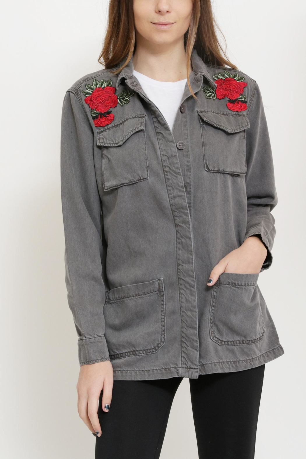 Sneak Peak Patched Military Jacket - Front Full Image