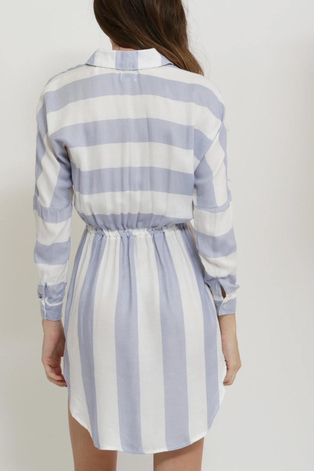 Sneak Peak Striped Shirt Dress - Front Full Image