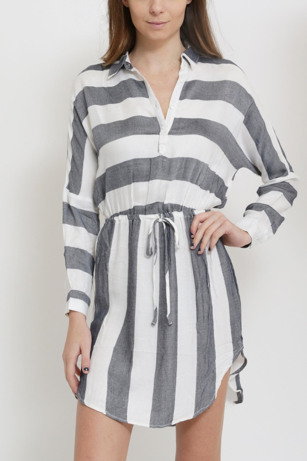 Sneak Peak Striped Shirt Dress - Main Image