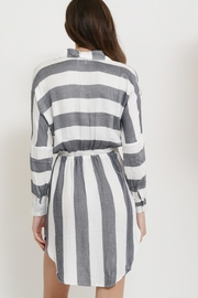 Sneak Peak Striped Shirt Dress - Front full body