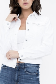 Sneak Peak White Denim Jacket - Front cropped