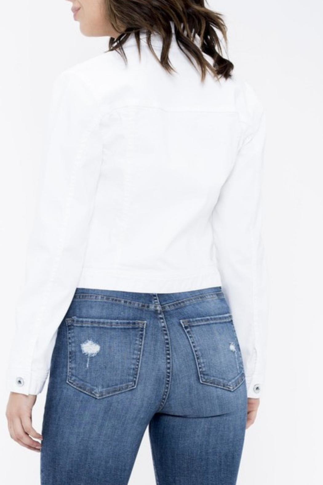 Sneak Peak White Denim Jacket - Side Cropped Image