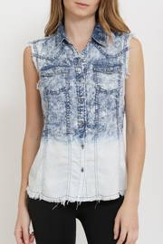 Sneak Peek Acid Wash Denim Top - Product Mini Image