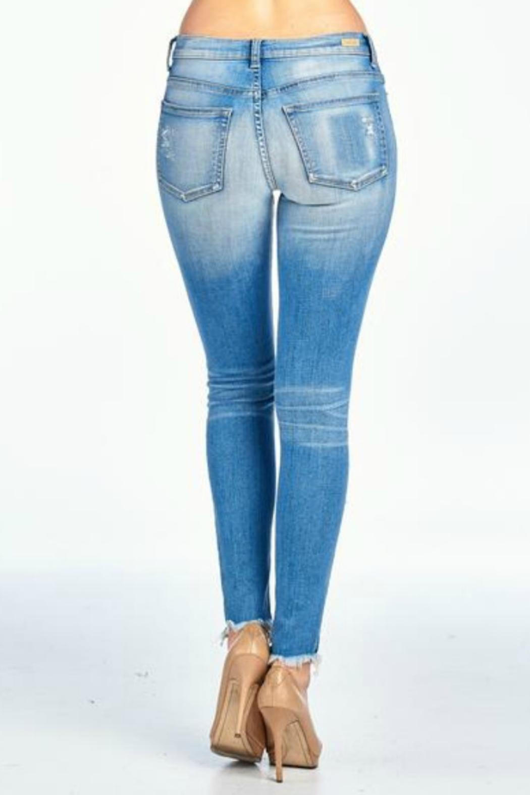 Sneak Peek Asher Distressed Skinny - Side Cropped Image