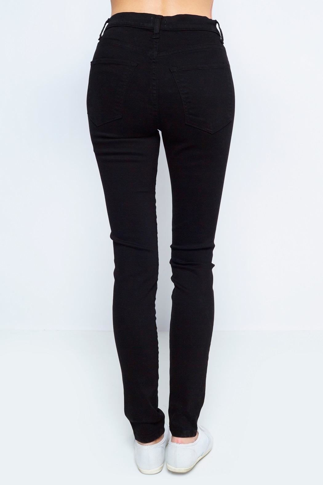 Sneak Peek Black Highwaist Denim - Front Full Image