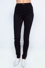 Sneak Peek Black Highwaist Denim - Front cropped